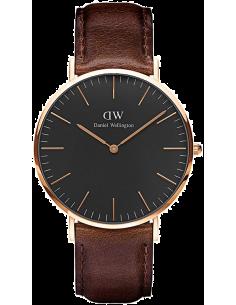 Chic Time | Montre Homme Daniel Wellington Classic Black Bristol Rose Gold DW00100125  | Prix : 132,30€