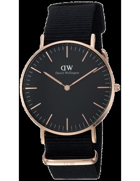Chic Time | Montre Daniel Wellington Classic Black Cornwall DW00100150 Noir  | Prix : 83,40€