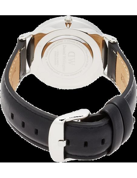 Chic Time | Montre Daniel Wellington Classic Sheffield Argent 36 mm DW00100053 Noir  | Prix : 143,65€