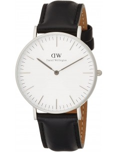 Chic Time | Montre Daniel Wellington Classic Sheffield Argent 36 mm DW00100053 Noir  | Prix : 143,65 €