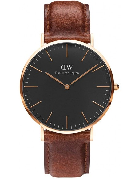 Chic Time | Montre Femme Daniel Wellington Classic Black ST Mawes Rose Gold DW00100136  | Prix : 143,65 €
