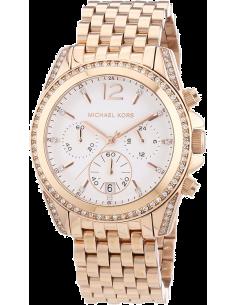 Chic Time | Montre Femme Michael Kors Pressley MK5836 Bracelet en acier doré rose  | Prix : 139,50€