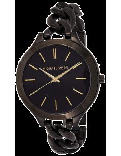 Chic Time | Montre Femme Michael Kors Slim Runway MK3317 Bracelet En Acier Noir Brillant  | Prix : 194,65€