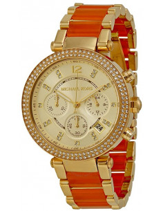 Chic Time | Montre Femme Michael Kors Parker MK6139 Orange  | Prix : 149,99€