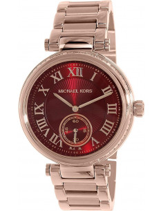 Chic Time | Montre Femme Michael Kors Skylar MK6086 Cadran bordeaux et acier or rose  | Prix : 237,15€