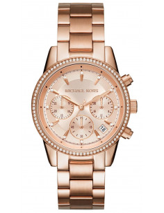 Chic Time | Montre Femme Michael Kors Ritz MK6357 Or Rose  | Prix : 223,20 €