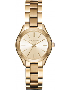 Chic Time | Montre Michael Kors Slim Runway MK3512 bracelet en acier doré  | Prix : 183,20€