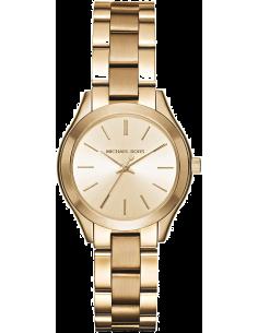 Chic Time | Montre Michael Kors Slim Runway MK3512 bracelet en acier doré  | Prix : 159,20€