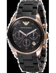 Chic Time | Montre Emporio Armani AR5906 caoutchouc noir  | Prix : 319,20€