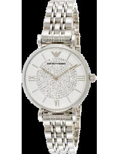 Chic Time | Montre Femme Emporio Armani Gianni T-Bar AR1925 Bracelet acier argenté  | Prix : 209,40€