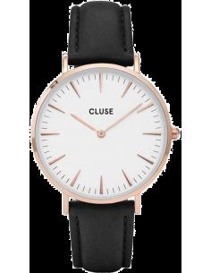 Chic Time | Montre Cluse La Bohème CL18008 Noir bracelet en cuir noir  | Prix : 62,97€