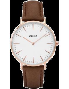 Chic Time   Montre Cluse La Bohème CL18010 Bracelet en cuir marron    Prix : 58,47€