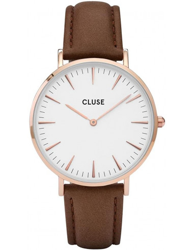 Chic Time | Montre Cluse La Bohème CL18010 Bracelet en cuir marron  | Prix : 58,47€