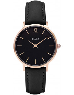 Chic Time | Montre Cluse Minuit CL30022 Rose Gold Black/Black  | Prix : 64,35 €