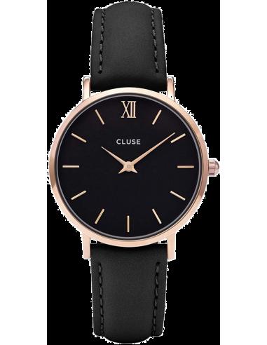 Chic Time | Montre Cluse Minuit CL30022 Rose Gold Black/Black  | Prix : 64,35€