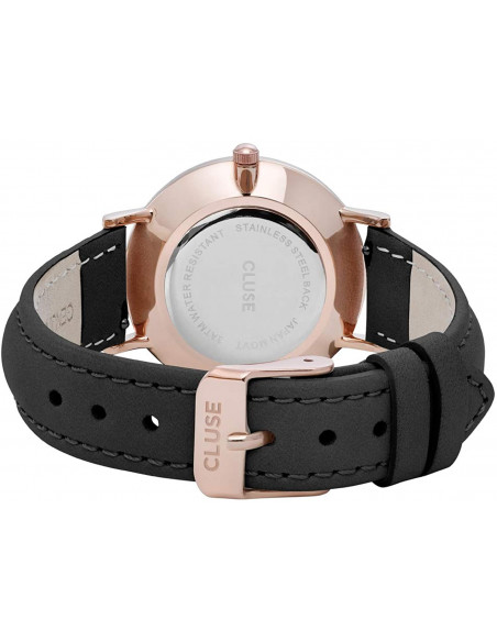 Chic Time | Montre Cluse Minuit CL30022 Rose Gold Black/Black  | Prix : 74,25 €