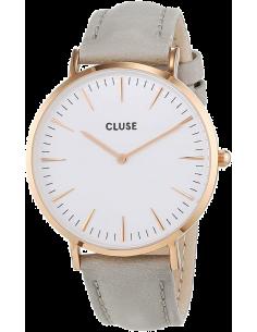 Chic Time | Montre Cluse La Bohème CL18015 Bracelet en cuir gris  | Prix : 58,47€