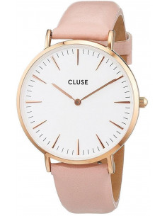 Chic Time | Montre Cluse La Bohème CL18014 Rose Gold White/Pink  | Prix : 58,47 €