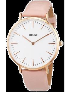 Chic Time | Montre Cluse La Bohème CL18014 Rose Gold White/Pink  | Prix : 58,47€