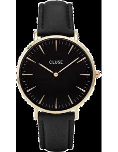 Chic Time | Montre Cluse La Bohème CL18401 Bracelet Cuir Noir  | Prix : 58,47€