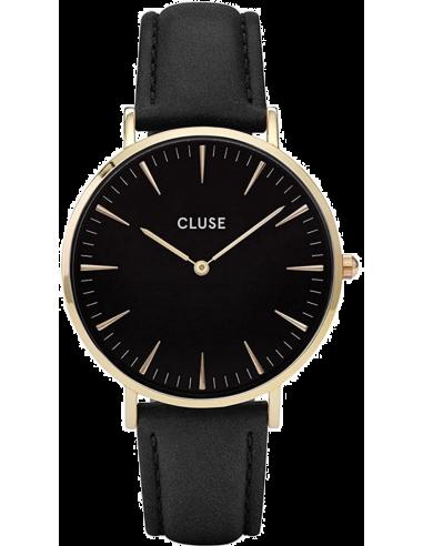 Chic Time | Montre Cluse La Bohème CL18401 Bracelet Cuir Noir  | Prix : 67,46€