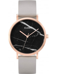 Chic Time | Montre Cluse La Roche CL40006 Rose Gold Black Marble/Grey  | Prix : 119,25 €