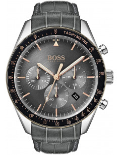 Chic Time | Montre Homme Hugo Boss Trophy 1513628 Gris Anthracite  | Prix : 197,40 €