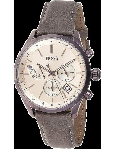 Chic Time | Montre Homme Hugo Boss Grand Prix 1513603 Chronographe bracelet cuir  | Prix : 239,40€