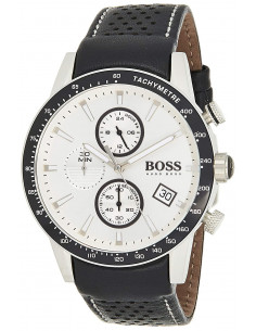 Chic Time | Montre Homme Hugo Boss Rafale 1513403 Cuir Noir  | Prix : 209,40€
