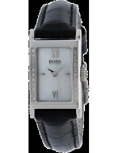 Chic Time | Montre femme Hugo Boss 1502192 Bracelet cuir fin et Boîtier allongé  | Prix : 386,75€