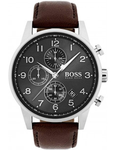 Chic Time | Montre Hugo Boss Navigator Chronomètre 1513494 Marron  | Prix : 239,20 €