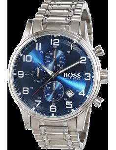 Chic Time   Montre Hugo Boss Aeroliner 1513183 Bracelet acier fond bleu    Prix : 391,20€