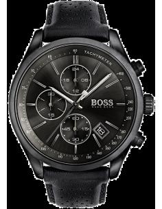 Chic Time | Montre Homme Hugo Boss Grand Prix Chronomètre 1513474 Cuir Noir  | Prix : 279,20€