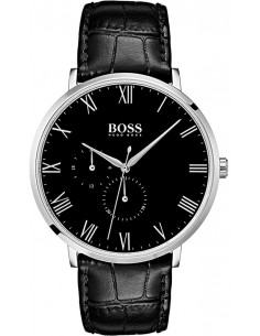 Chic Time | Montre Homme Hugo Boss William 1513616 Cuir noir bracelet  | Prix : 249,00 €