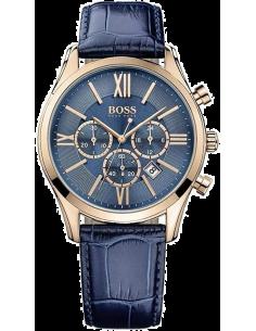 Chic Time   Montre Hugo Boss Ambassador Chronomètre 1513320 Bracelet en cuir bleu    Prix : 275,00€