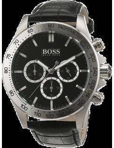 Chic Time | Montre Homme Hugo Boss 1513178 Bracelet cuir noir motifs peau de croco  | Prix : 233,40€
