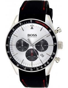 Chic Time | Montre Homme Hugo Boss Trophy 1513627 Chronographe Noir silicone  | Prix : 197,40€