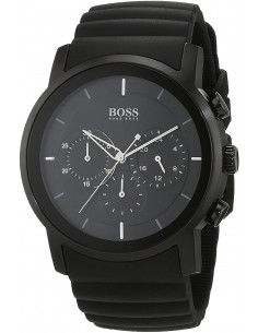 Chic Time | Montre Homme Hugo Boss Modern 1512639 Bracelet noir en silicone  | Prix : 263,20€