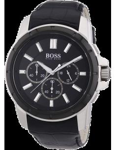 Chic Time | Montre Homme Hugo Boss Sport 1512926 Bracelet croco noir en cuir  | Prix : 319,20€