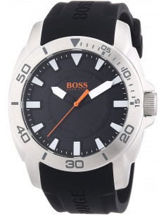 Chic Time | Montre Homme Boss Orange Shanghaï 1512948 Bracelet silicone noir  | Prix : 83,40 €