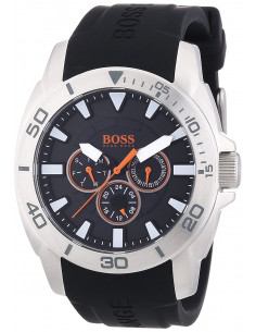 Chic Time | Montre Homme Boss Orange Shanghaï 1512950 Bracelet silicone noir  | Prix : 211,65 €