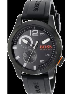 Chic Time | Montre Homme Boss Orange 1513147 Bracelet noir en caoutchouc  | Prix : 211,65€
