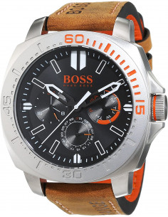 Chic Time | Montre Homme Boss Orange 1513297 Bracelet Cuir Marron  | Prix : 194,65 €