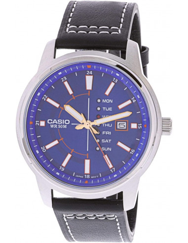 Chic Time | Montre Homme Casio Collection MTP-E128L-2A1V Bleu  | Prix : 139,00 €