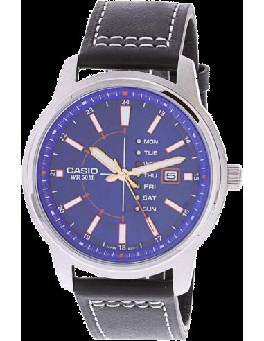 Chic Time | Montre Homme Casio Collection MTP-E128L-2A1V Bleu  | Prix : 139,00€