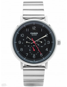 Chic Time | Montre Homme Casio Collection MTP-E314D-1BV Argent  | Prix : 79,00 €