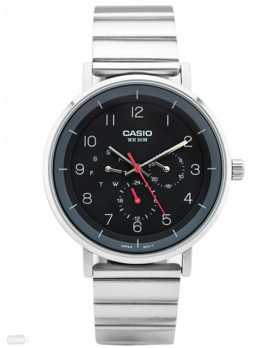 Chic Time | Montre Homme Casio Collection MTP-E314D-1BV Argent  | Prix : 79,00€