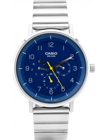 Chic Time | Montre Homme Casio Collection MTP-E314D-2BV Argent  | Prix : 109,00 €