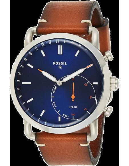 Chic Time | Montre Connectée Hybride Fossil Q Commuter FTW1151 bracelet cuir  | Prix : 269,00€