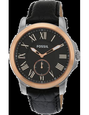 Chic Time | Montre Homme Fossil Grant FS4943 Bracelet Cuir Glacé Noir  | Prix : 135,15€